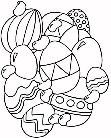 387x480 Jelly Beans And Eggs Coloring Page Free Printable Coloring Pages