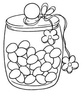 972x979 Printable Jelly Beans In Jar Coloring Page Pictures 263x300 Stamp Of The Month March 2011 Card 1