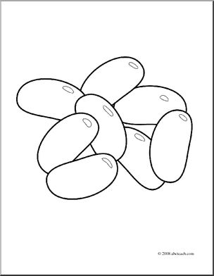 304x392 Clip Art Jelly Beans (Coloring Page) I Abcteach
