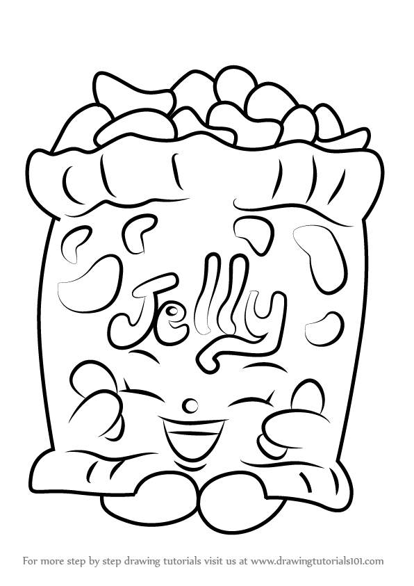 596x843 Step By Step How To Draw Jelly B From Shopkins