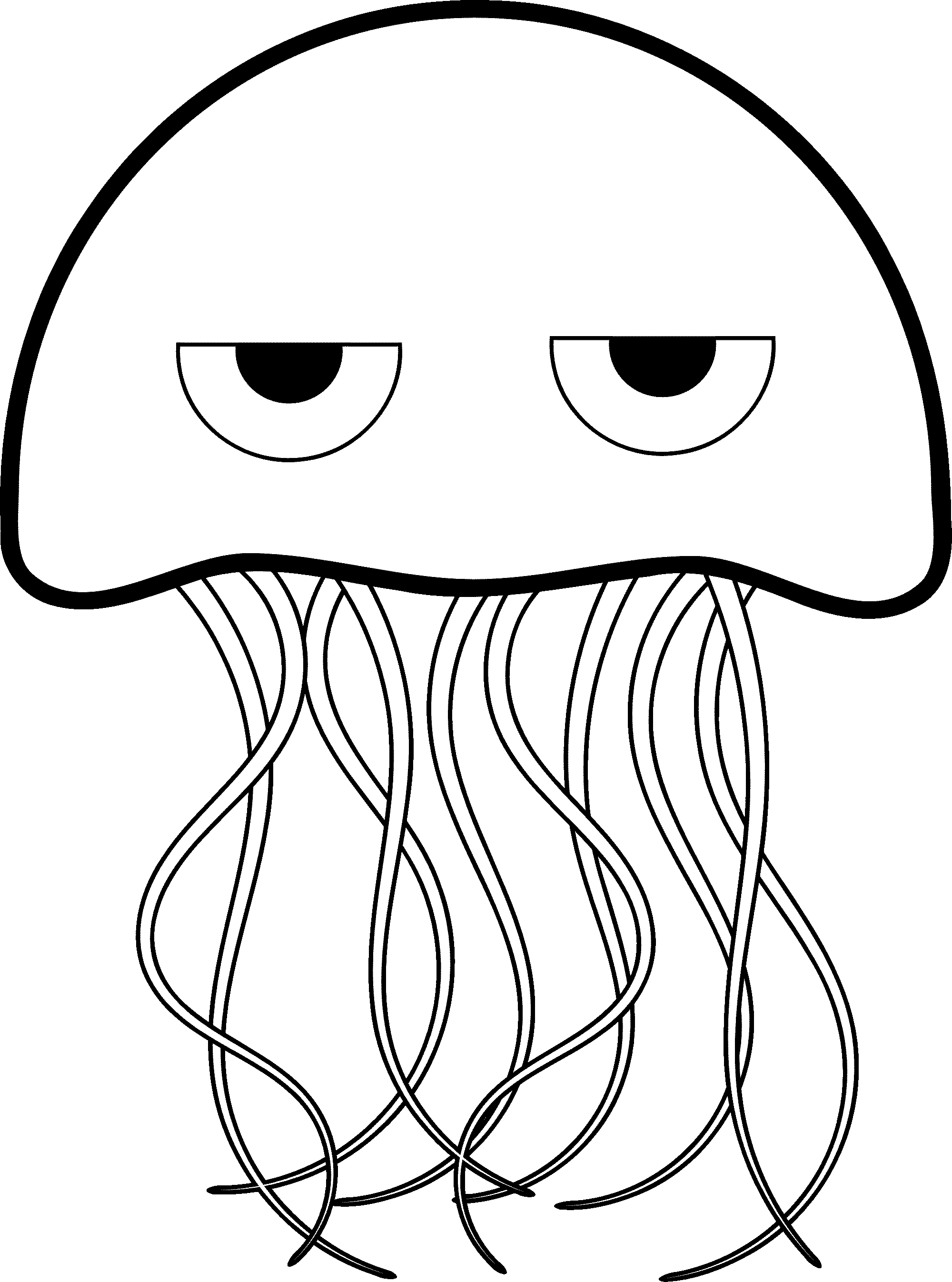 2000x2693 Wonderful Jellyfish Drawing Sketch With Jellyfish Coloring Page