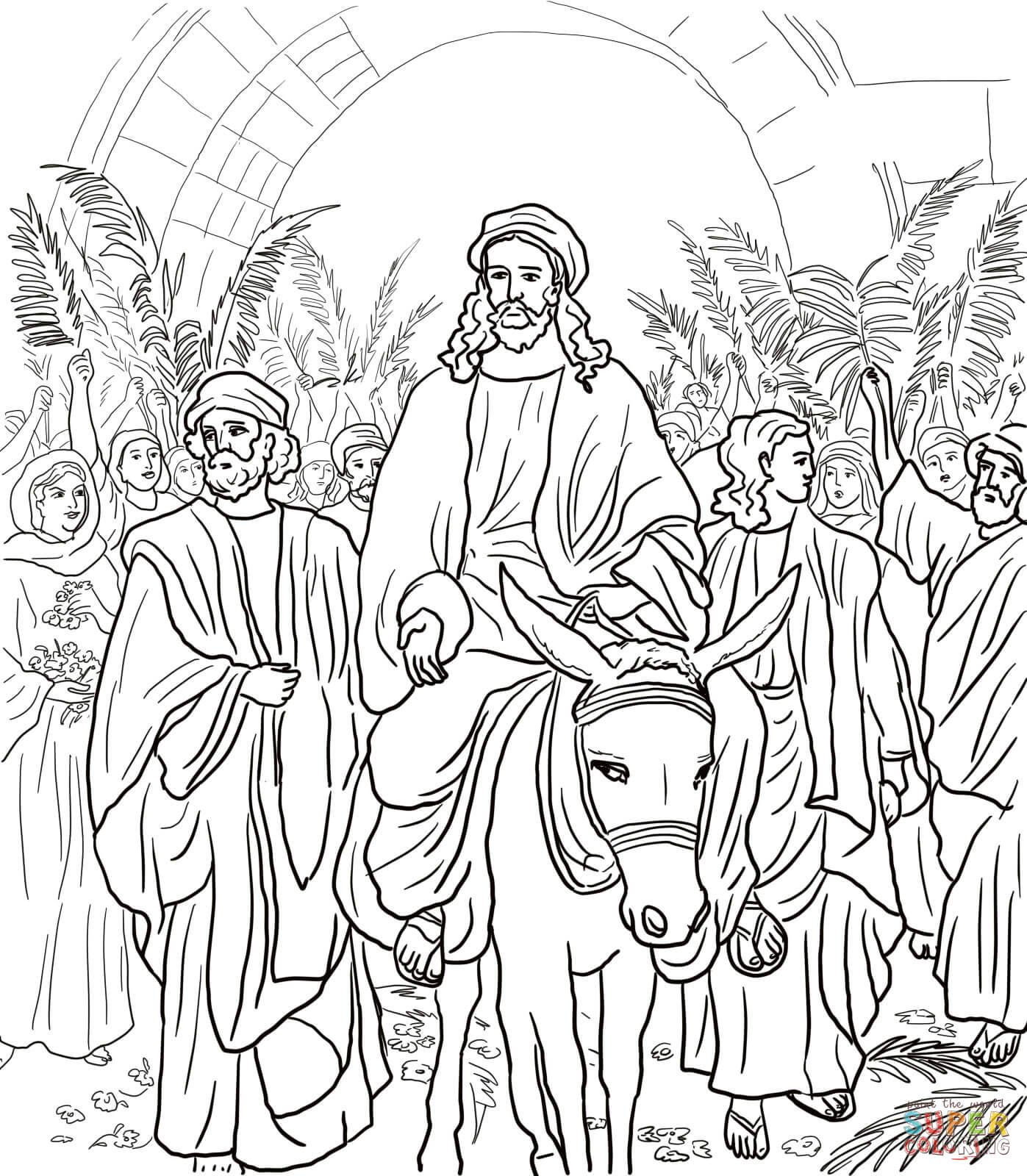 1397x1600 Jesus Entryto Jerusalem Coloring Page From Jesus' Holy Week