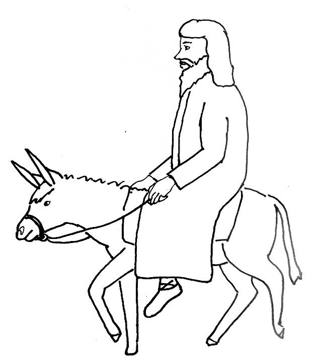 640x715 Bible Story Coloring Page For Jesus' Triumphant Entry Into