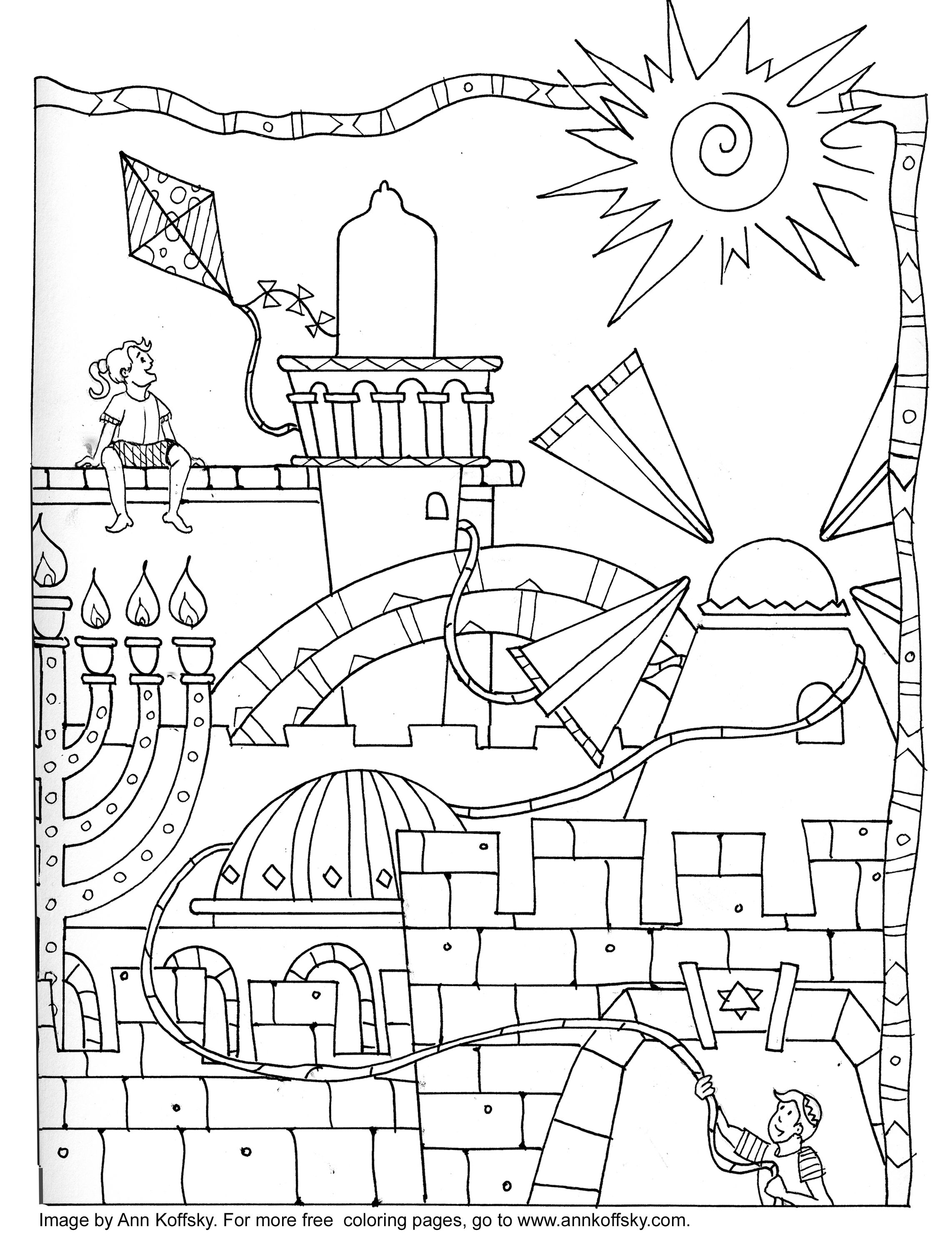 2285x2968 Coloring Page 9 Days Bible Learning Jerusalem