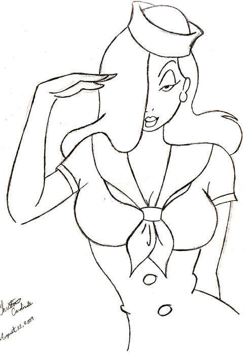 485x700 Jessica Rabbit Old No Color By Bluetears15