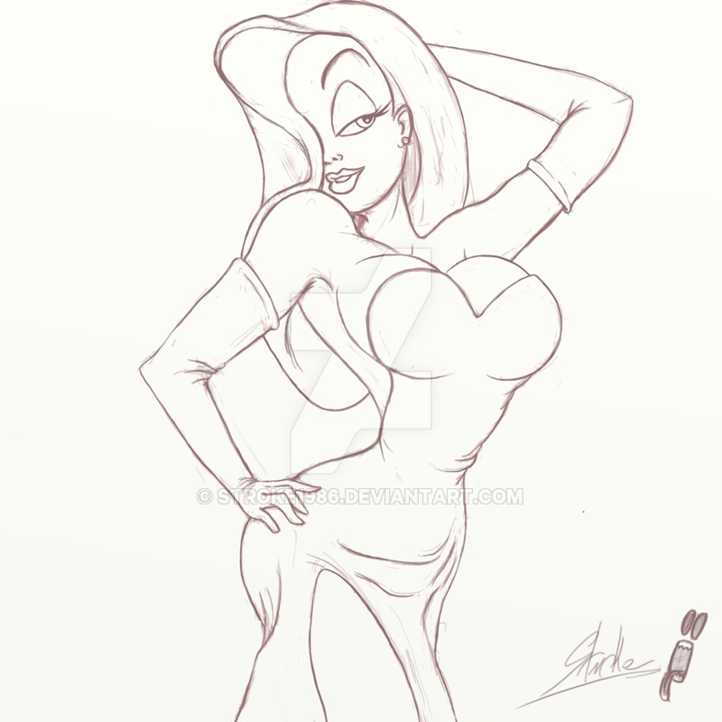 800x800 Jessica Rabbit Wip By Stroke1986