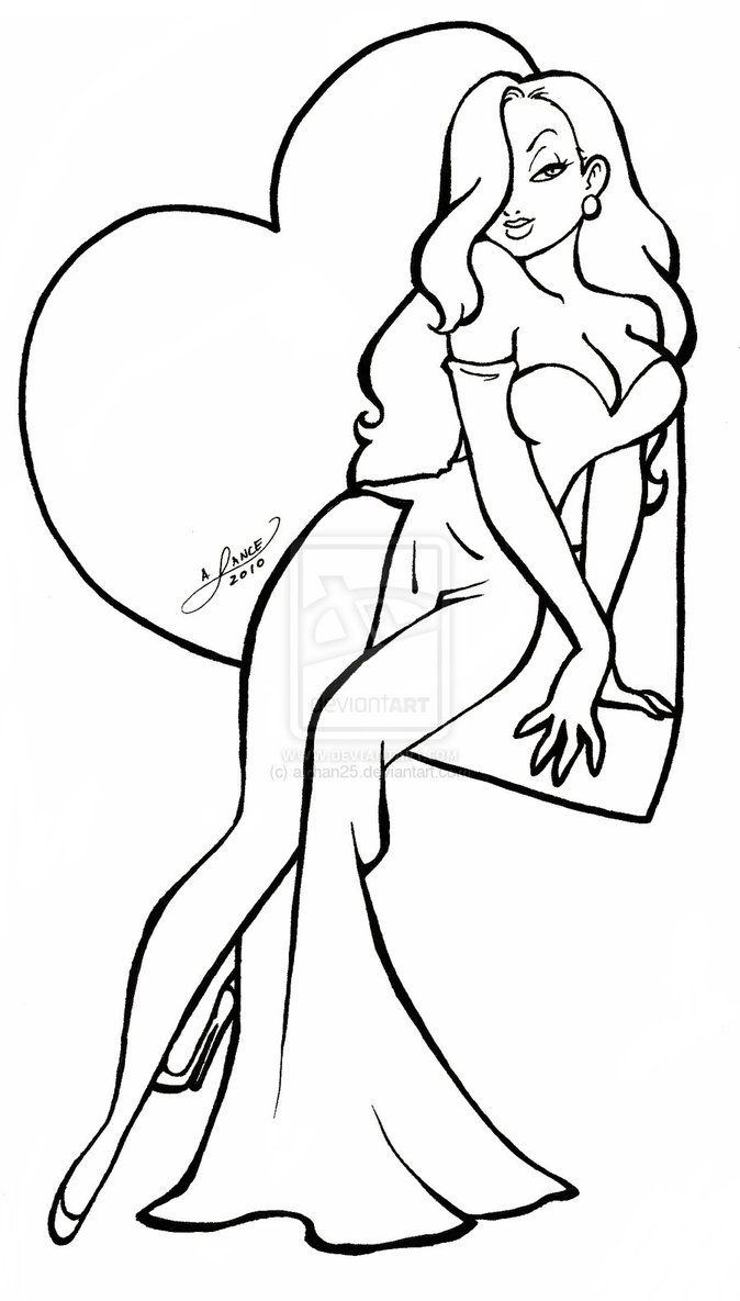 674x1185 Jessica Rabbit Coloring Pages Love Jessica Rabbit