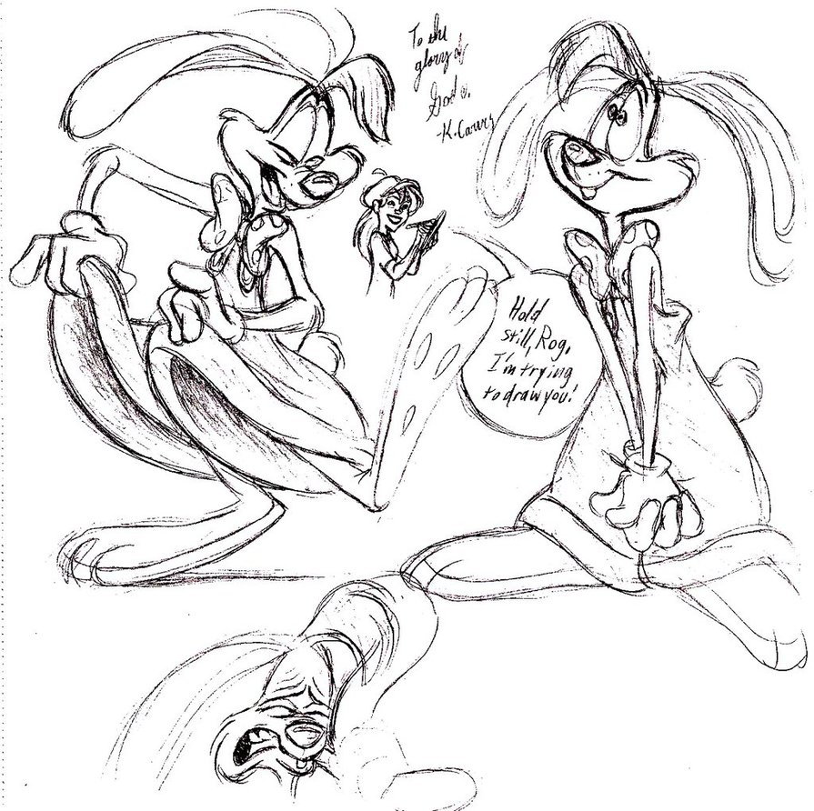 895x892 Roger Rabbit Sketches By Cartoonkate