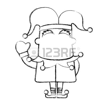 450x439 Sketch Draw Jester Hat Vector Graphic Design Vector Graphic Design