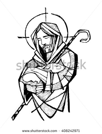 360x470 Hand Drawn Vector Illustration Or Drawing Of Jesus Christ As Good