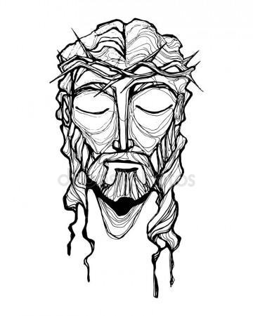 360x450 Jesus Christ Face Stock Vector Bernardojbp
