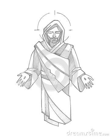360x450 Drawn Photos Jesus