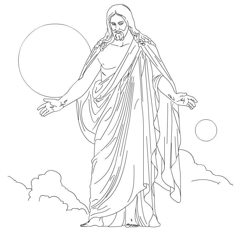 800x800 Jesus Christ Ascension Coloring Pages And Line Art Drawing Images