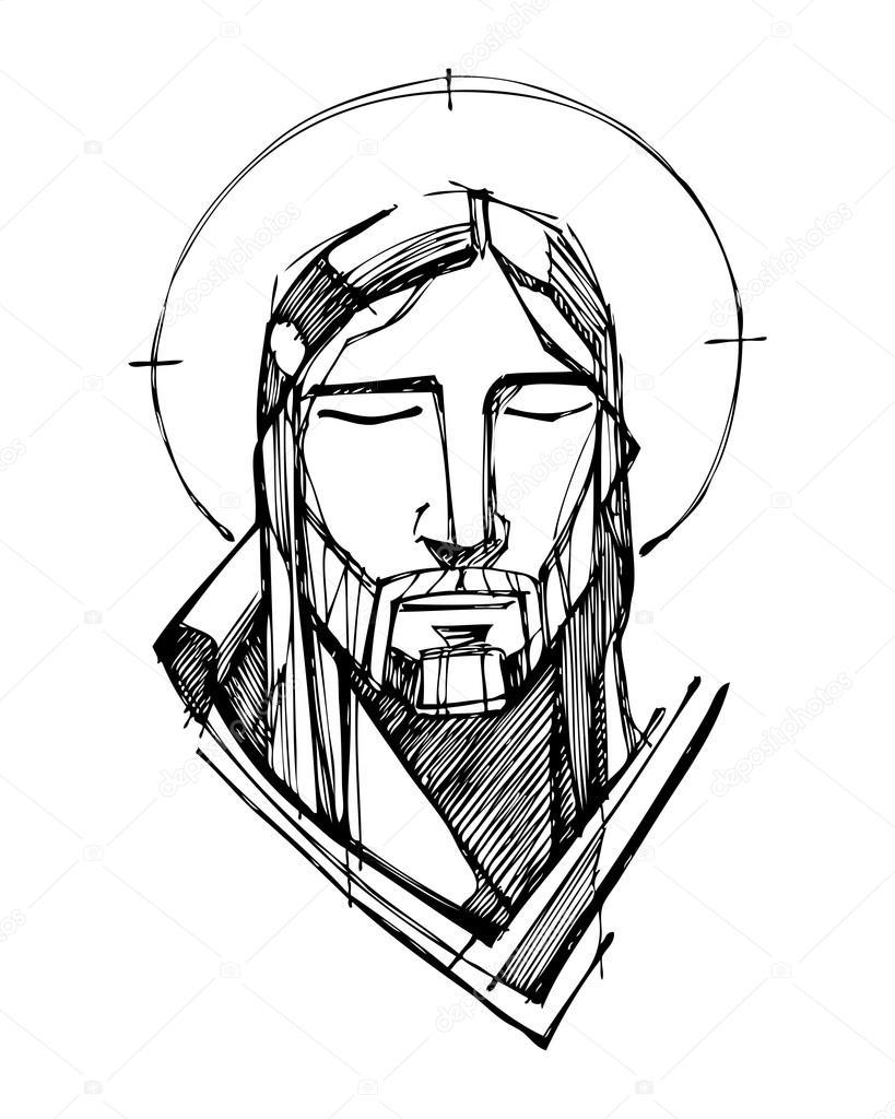 819x1024 Jesus Christ Face Stock Vector Bernardojbp