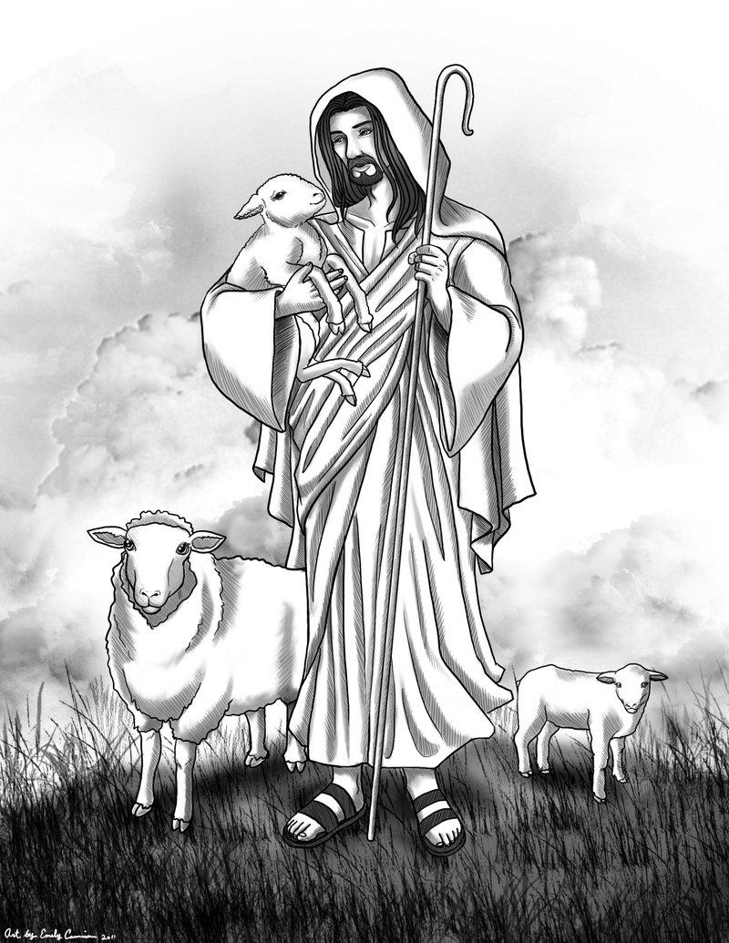 800x1035 Jesus I Am The Good Shepherd By Emilycammisa