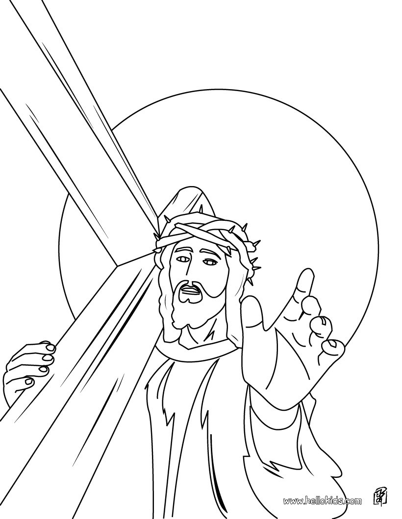 820x1060 Jesus Christ's Crown Of Thorns Coloring Pages