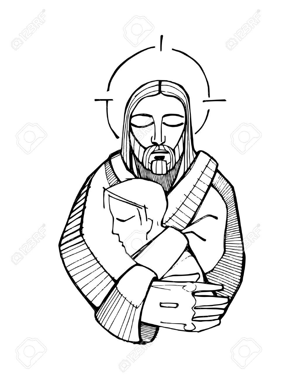 1040x1300 Photos Free Drawing Of Jesus,
