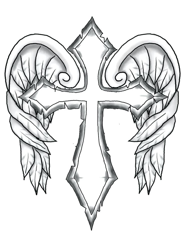 736x976 Coloring Pages Of Crosses Free Printable Cross Coloring Pages