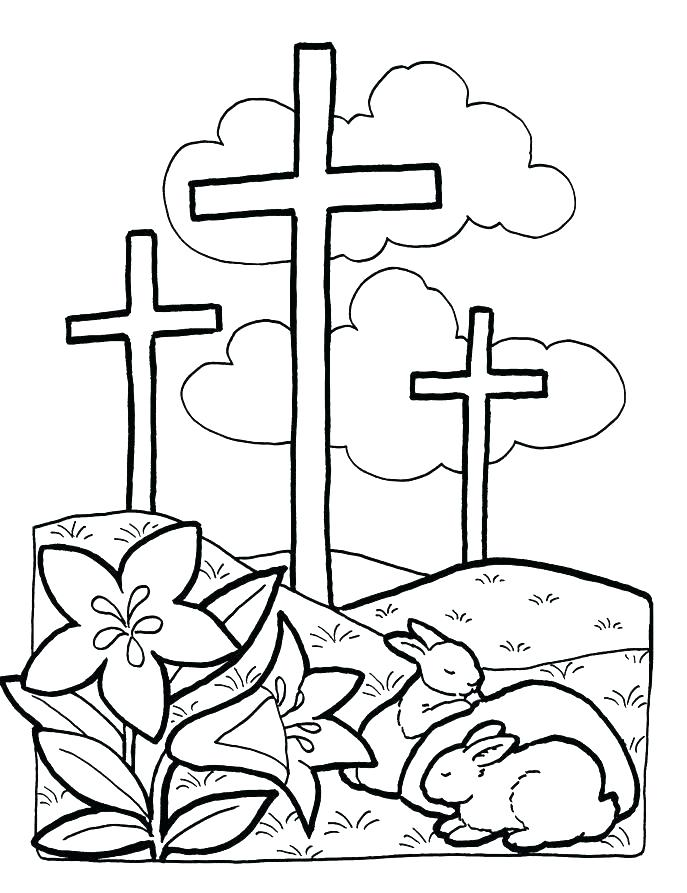 687x893 Free Printable Cross Coloring Pages Cross Coloring Pages To Print