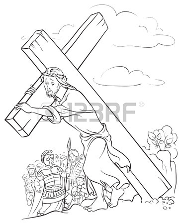 366x450 Jesus Carrying Cross Stock Photos. Royalty Free Business Images