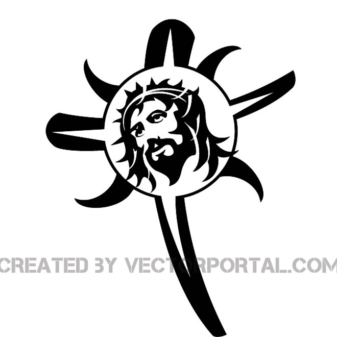 660x660 Jesus And The Cross Image Free Vector 123freevectors