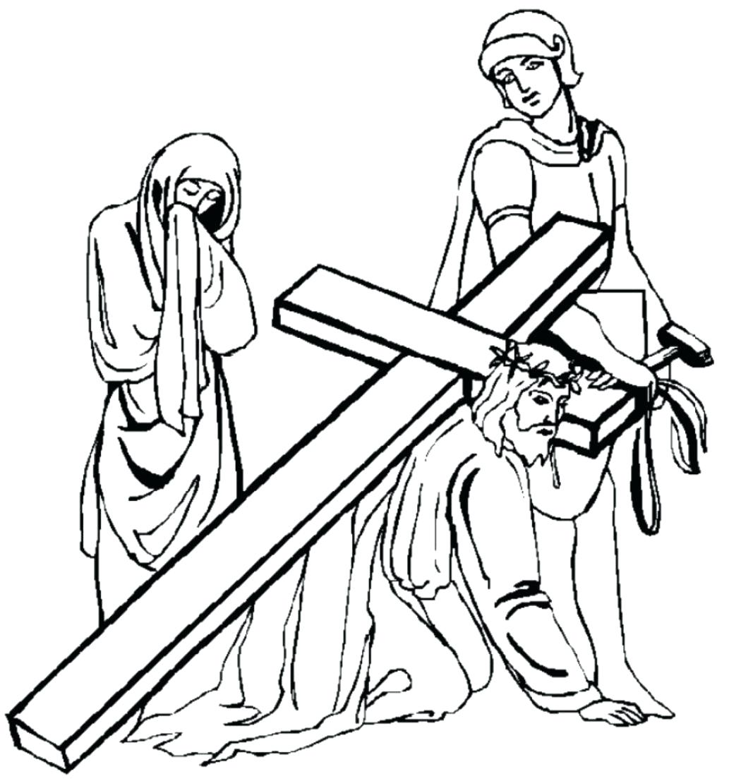 1033x1107 Coloring Jesus On Cross Coloring Page