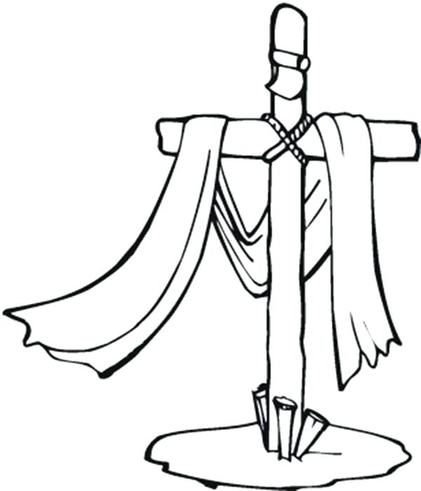 600x701 Coloring Pages Crosses For Cross Bible Coloring Page Coloring