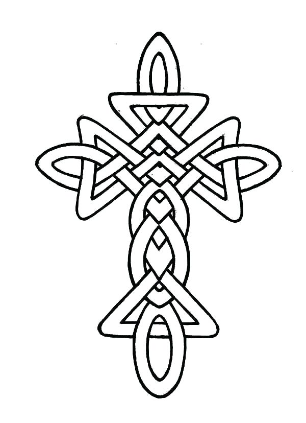 600x828 Coloring Pages Crosses Morphed Cross Coloring Pages Best Place
