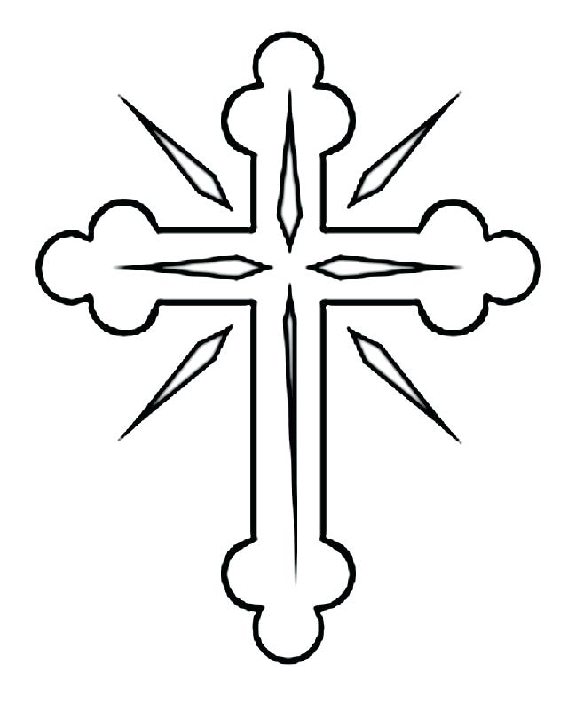 640x793 Coloring Pages Of Crosses For Skull Candy Tattoo Christian Men