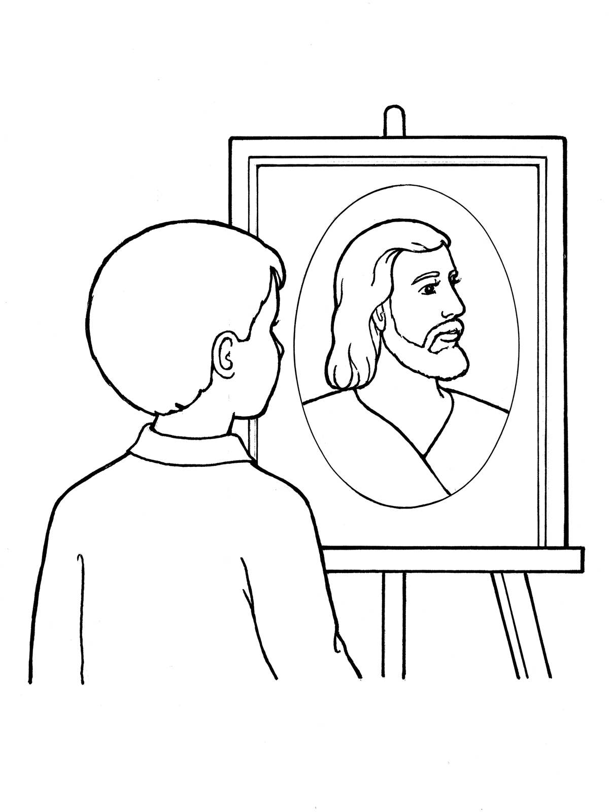 Modern Jesus Christ Loves Me Coloring Page Pattern - Professional ...