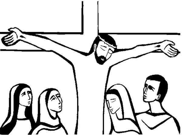600x447 Good Friday Coloring Pages Cartoon Of Jesus Christ Crucifixion