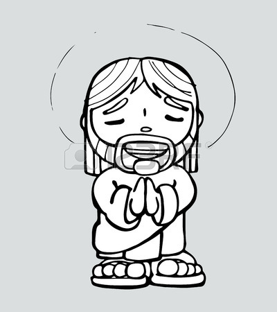 400x450 Hand Drawn Vector Illustration Or Drawing Of A Cartoon Of Jesus