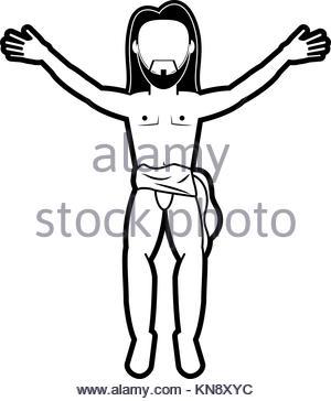 300x364 Crucified Jesus Cartoon Stock Vector Art Amp Illustration, Vector