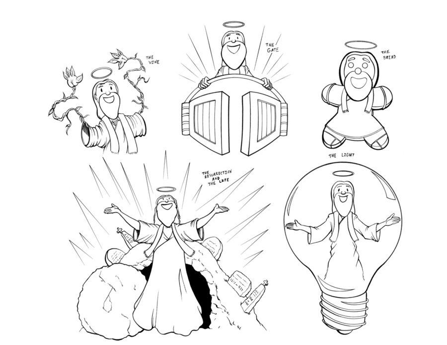 900x695 Cartoon Jesus By Robo Bug