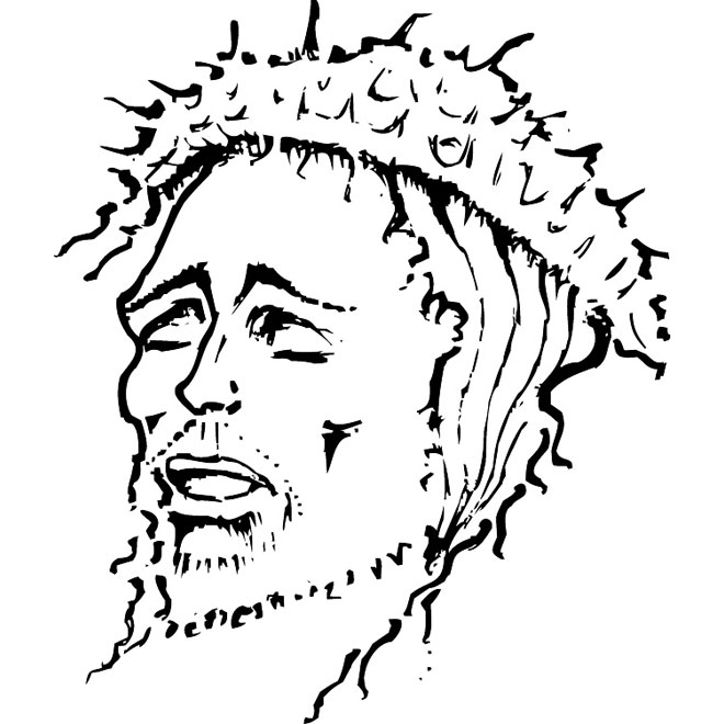 660x660 Jesus Christ Vector Drawing 2