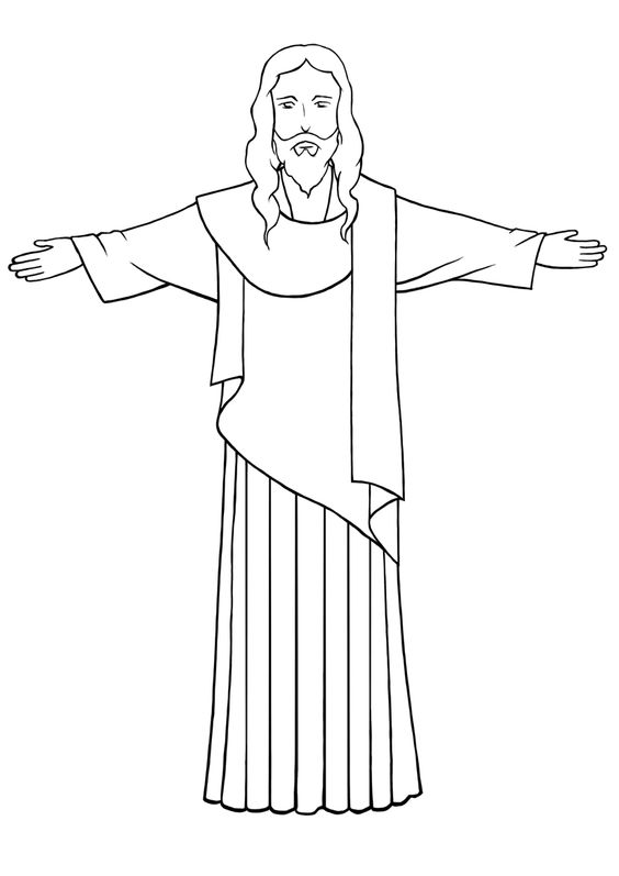 564x797 photos how to draw jesus christ
