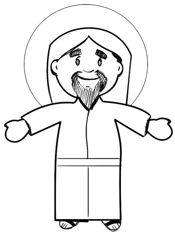 350x469 Charming Ideas Jesus Easy Drawing How To Draw Cartoon Christ
