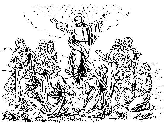 640x477 Christ Ascension Day Clipart Black White