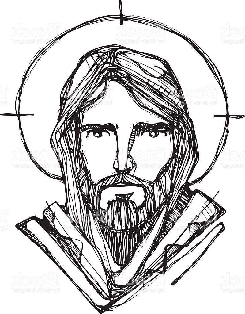 Jesus Christ Face Drawing