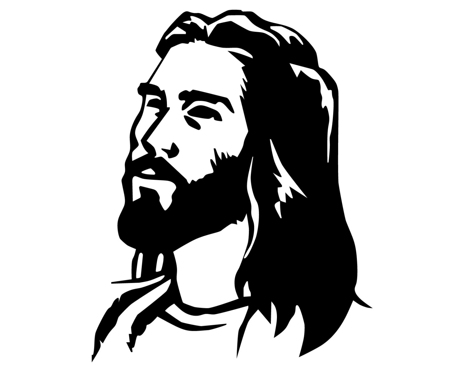 1500x1200 Jesus Decal Jesus Portrait Bumper Sticker Jesus Christ