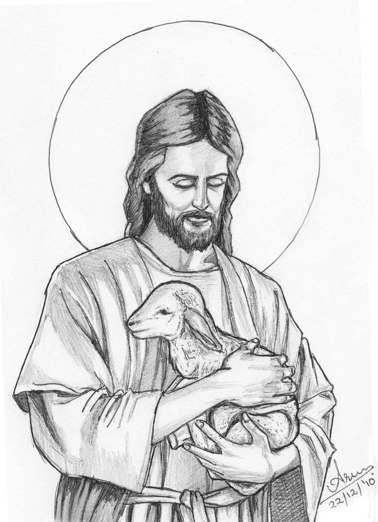 760x1050 Sketch Of Jesus Christ Jesus Christ Simple Pencil Drawing Images