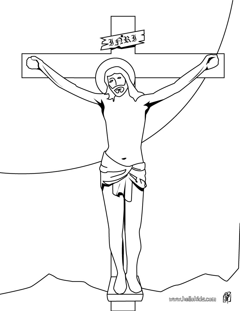 820x1060 Coloring Pages Of Jesus On The Cross Christ Carrying