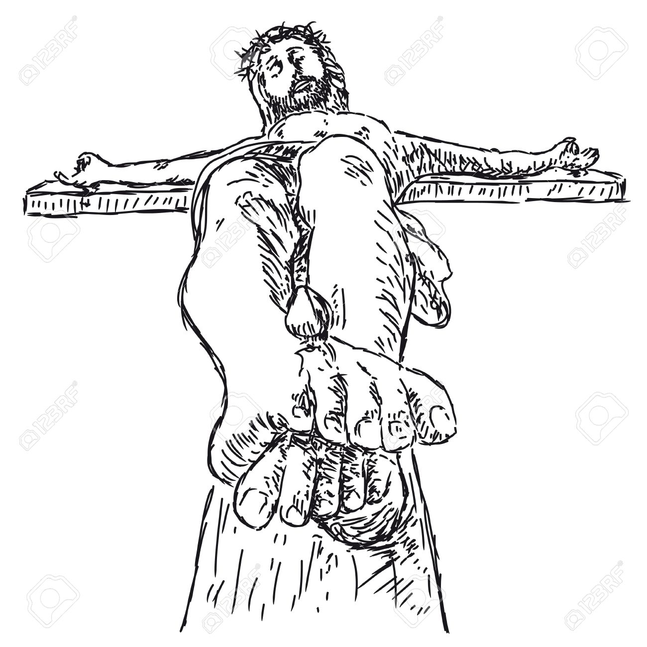 1300x1300 Crucifixion Royalty Free Cliparts Vectors And Stock Illustration