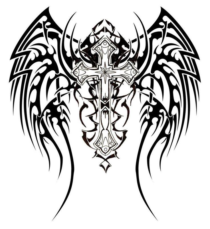 736x804 Download Jesus Cross Tribal Tattoo