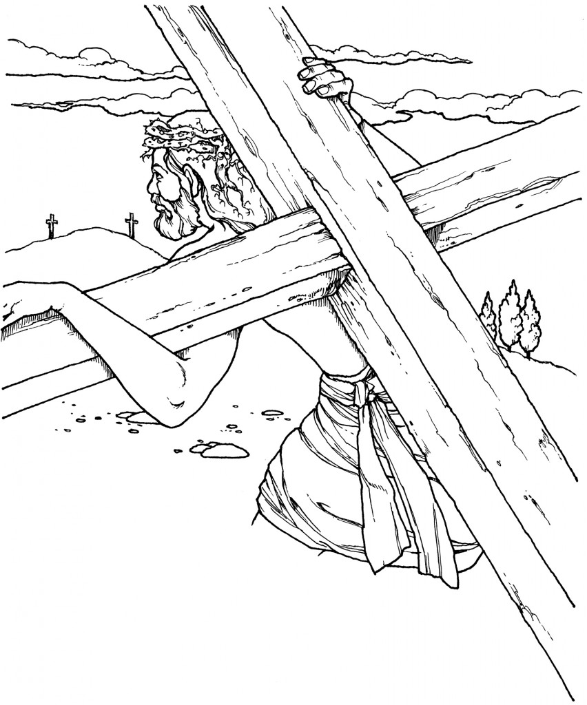 852x1024 Jesus Christ On The Cross Drawing
