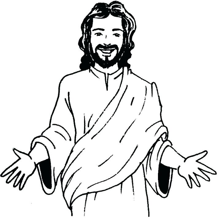 714x718 Jesus Coloring Picture Prints Christ Pages Lds