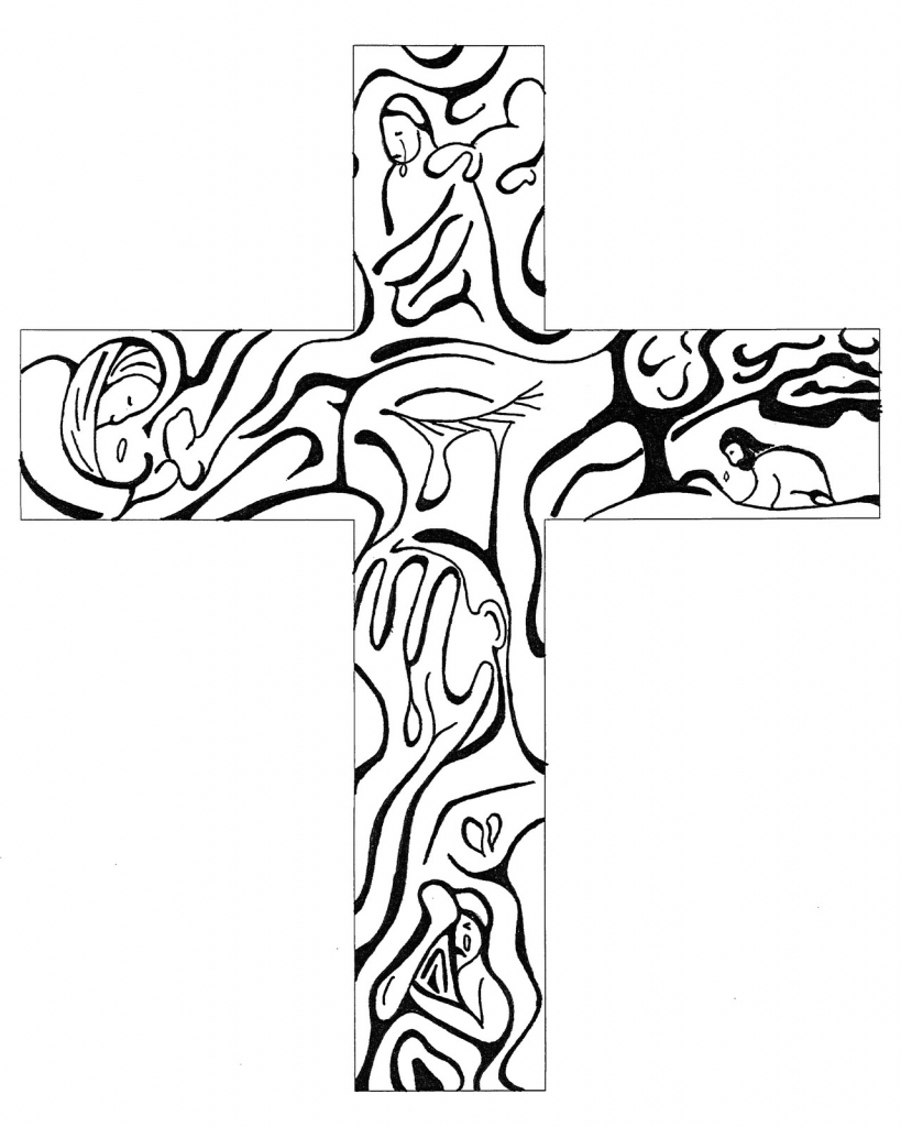 819x1024 Best Cross Drawing Jesus With Cross Drawing Clipart Best
