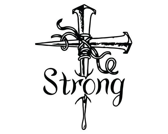 570x456 Nail Crossdecal Jesus Cross Sticker Strong Cross Decal
