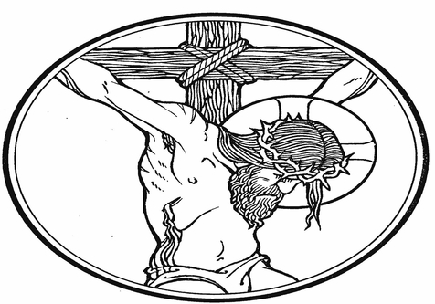 476x333 Wooden Cross Coloring Page Image Clipart Images