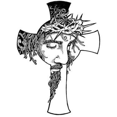 375x375 Black Jesus Tattoo Design Cross Tattoo Designs, Tattoo Designs